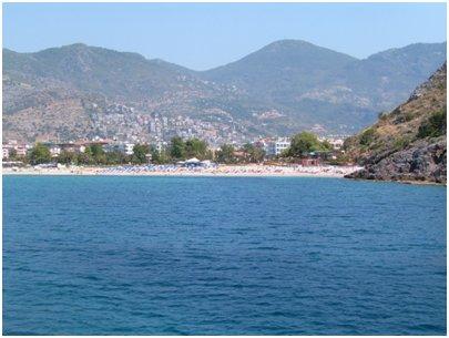 Alanya Kleopatran hiekkaranta Turkki uimaranta loma kuva matka