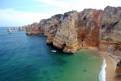 Dona Ana hiekkaranta Algarve Portugali ranta kuva