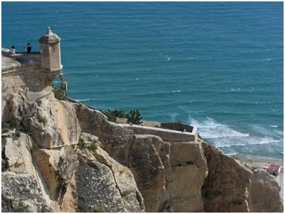Espanja Costa Blanca Alicante Santa Barbaran linnoitus