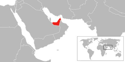 kartta Dubai Yhdistyneet Arabiemiirikunnat sijainti