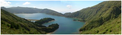 Azorit matka - Lagoa do Fogo - 'tulij�rvi' / laguuni S�o Miguelin saarella