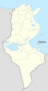 Djerba Tunisia sijainti kartta