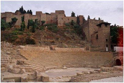 Malaga roomalainen amfiteatteri Costa del Sol aurinkorannikko loma matka