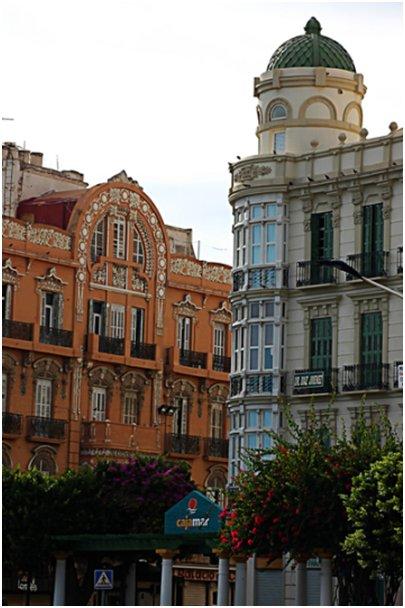 Espanja Andalusia Costa del Sol Malaga Torremolinos Melilla arkkitehtuuri