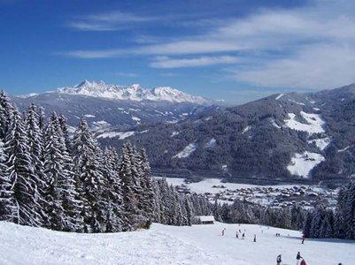Flachaun laskettelurinnettä Itävallan Alpeilla loma kuva alpit