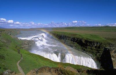 Gullfossin vesiputoukset Islannissa