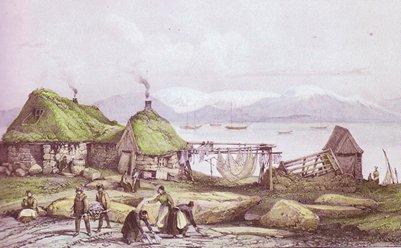 taulu kalastajan mökki Reykjavikissa 1800-luvulla