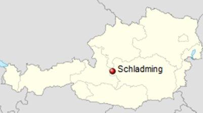 kartta Itävalta Alpit Schladming sijainti
