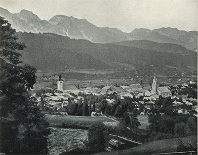 vanha valokuva Itävalta Schladming vuonna 1898