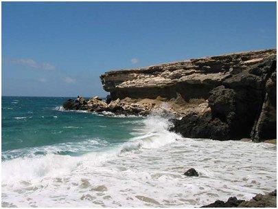 Espanja Kanariansaaret Fuerteventura La Pared kalliojyrk�nne