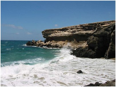 Espanja Kanariansaaret Fuerteventura La Pared kalliojyrkänne