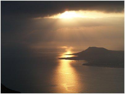 Espanja Kanariansaaret La Graciosa auringonlasku