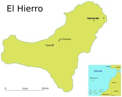 Espanja Kanariansaaret El Hierron kartta