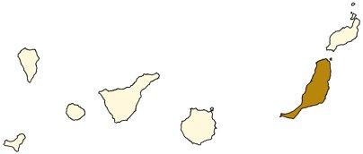 Espanja Kanariansaaret Fuerteventura sijainti kartta