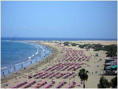 Espanja Kanariansaaret Gran Canaria Playa del Ingles uimaranta