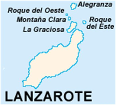 Espanja Kanariansaaret Chinijon saaristomeren saaret kartta