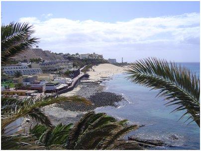Espanja Kanariansaaret Morro Jablen hiekkaranta Fuerteventura Jandia uimaranta kuva