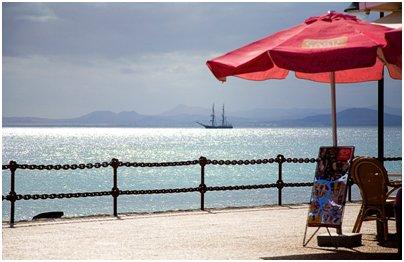 Espanja Kanarian saaret Lanzarote Playa Blancan kalastajakyl� matkat
