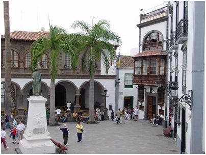 Espanja Kanariansaaret Santa Cruz de Tenerife kaupungintalon aukio