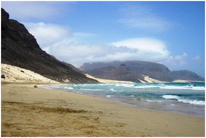 Kap Verde kuva loma matka S�o Vicente saaren hiekkarantaa Kap Verdell�