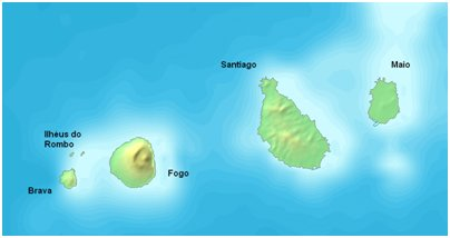 Sotaventon saariryhmä Kap Verdellä kartta kuva