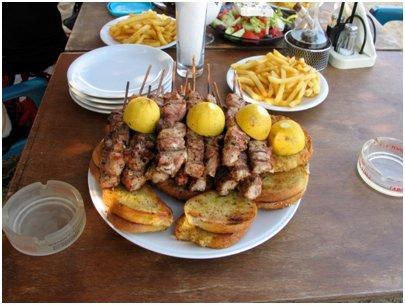 kreikkalainen souvlaki Kypros keitti� kyproslainen ruoka