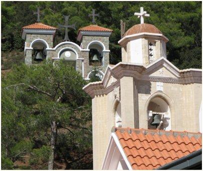kuva bysanttilainen kirkko Troodos-vuoristo Agia Napa Kypros matka