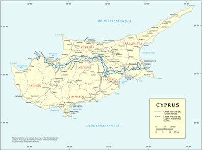 kartta Larnaka Kypros sijainti