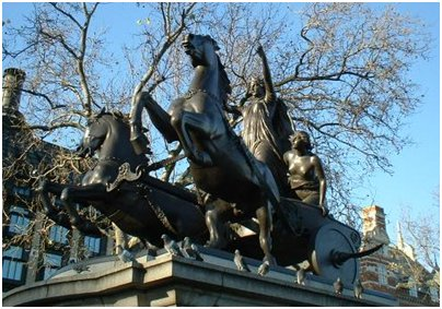 kuva Englanti Lontoo Boudican patsas loma matka