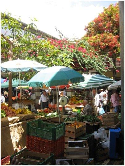 Tori Madeiralla Funchalin vanhassa kaupungissa