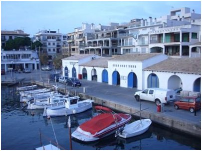 Espanjan matka kuva Cala Rajadan venesatama Mallorcalla