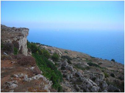 Malta - Dingli-kalliojyrk�nteet Filflan saarella