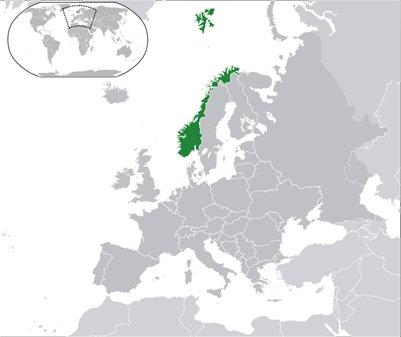 kartta Norja sijainti
