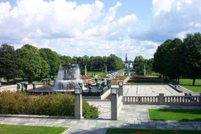 loma Vigelandin puisto Oslo Norja
