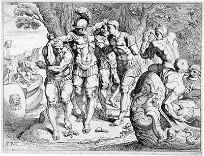 Odysseus lootuksensyöjät taulu