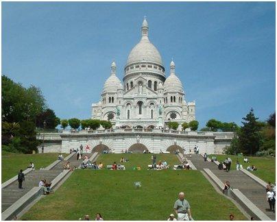 Ranska Pariisi Sacre Coeurin kirkko valokuva loma matka Ranska