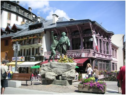 Chamonixin keskusta kuva Chamonix Ranskan Alpit