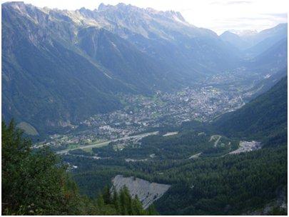 Chamonixin laakso valokuva Chamonix Ranskan Alpit
