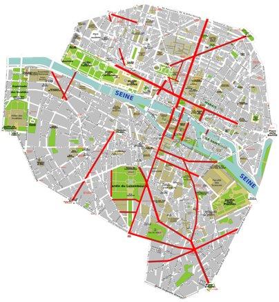 Ranska Pariisi kartta