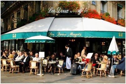 Ranska Pariisi pariisilainen katukahvila