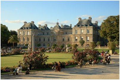 Ranska Pariisi Luxembourgin palatsi ja puisto