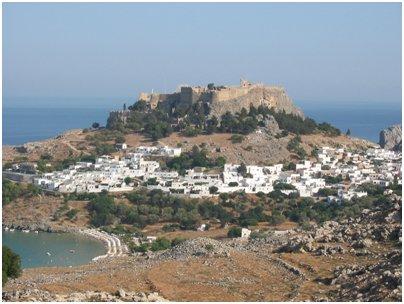Kreikka Rodos Lindos Valkoinen kaupunki