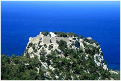 Kreikka Rodos Monolithos-kylän linna