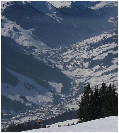 Itävalta valokuva loma Saalbach-Hinterglemm matka Itävallan Alpit