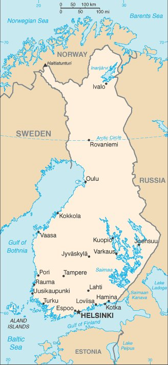 kartta Suomi Helsinki sijainti