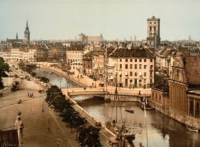 vanha valokuva K��penhamina vuosina 1890-1900
