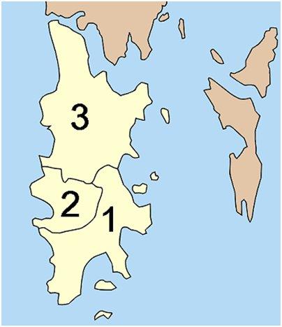 alueet Phuket Thaimaa kartta
