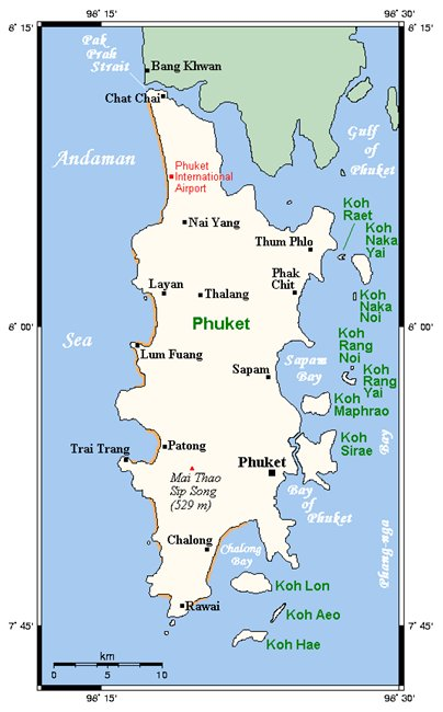 kartta Phuket Thaimaa
