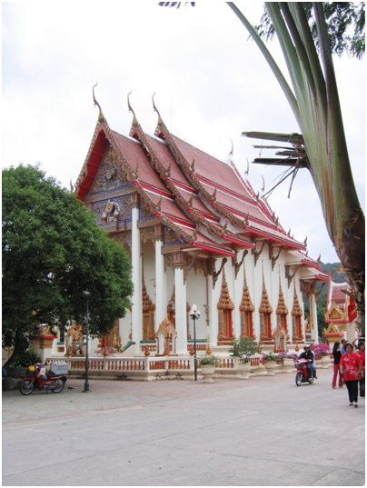 Wat Shalong temppeli kuva Phuket Thaimaa matka