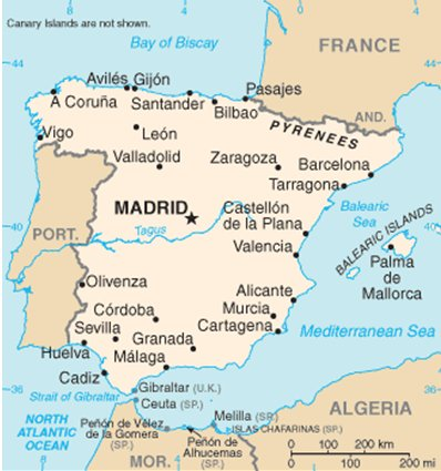 Espanja Alicante Murcia Costa Blanca Torrevieja sijainti kartta